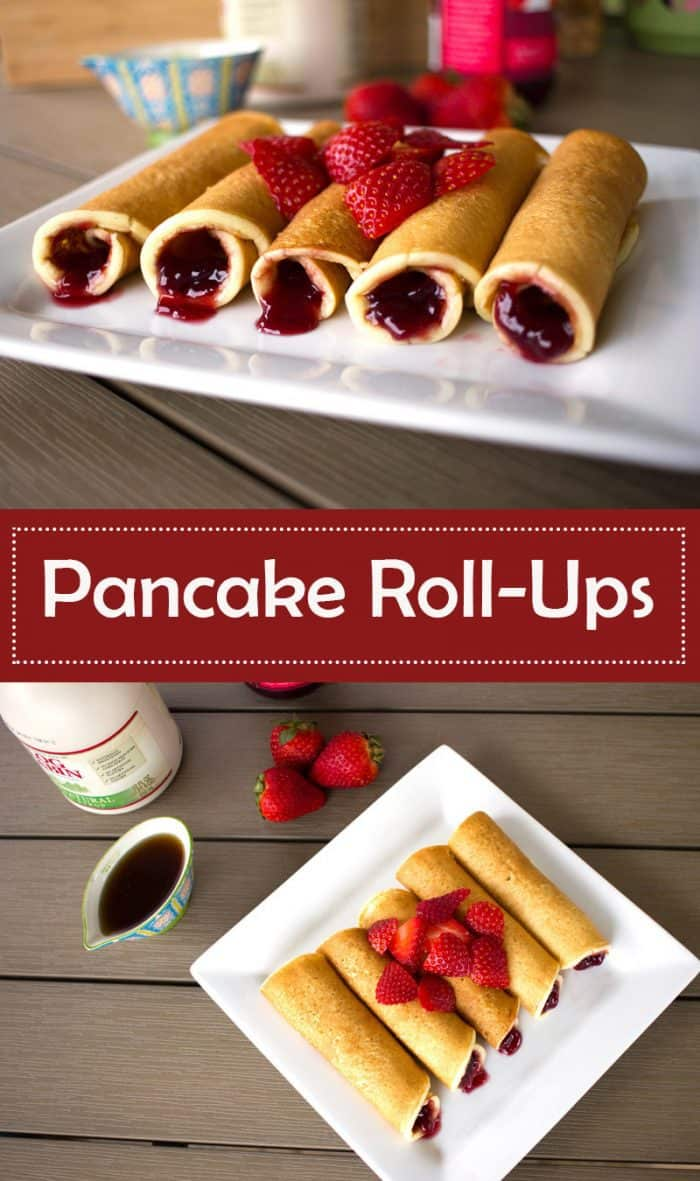 Pancake Roll-Ups are a delicious, easy, and fun way to eat pancakes for breakfast!