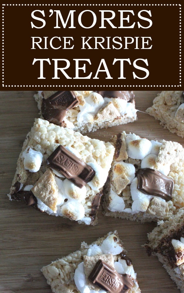 S'mores Rice Krispie Treats. Ooey. Gooey. Chocolately. Delicious.