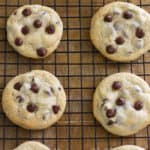 Easy Chocolate Chip Cookies that are crispy on the outside and soft, chewy and chocolaty on the inside!